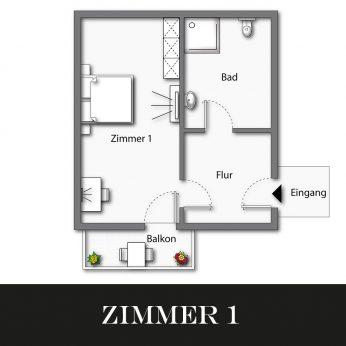 Hotel Restaurant Krüner Stubn Zimmer Grundriss